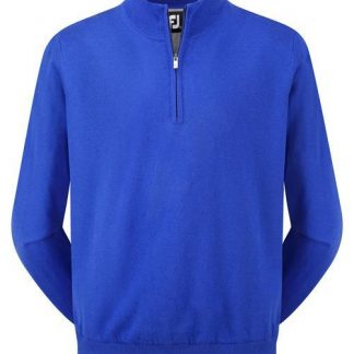 Footjoy lambswool lined pullover nautical blue (95388)