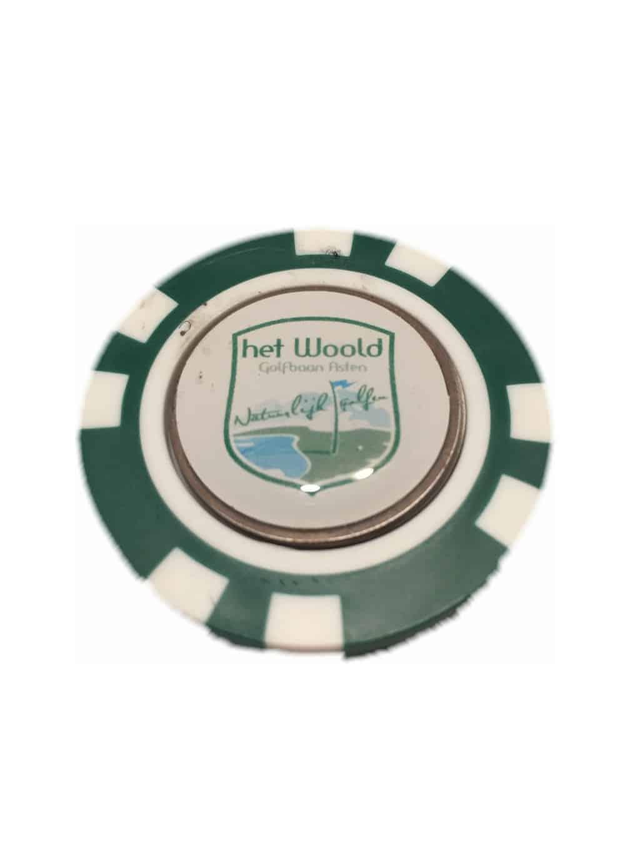 Woold Pokerfiche Met Marker Groen