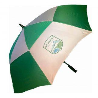 woold paraplu groen