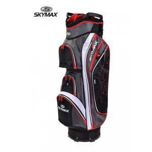 Skymax Lightweight 9.5 Cartbag Zwart/Rood