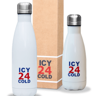 icy 24 cold drinkfles wit, 350 ml