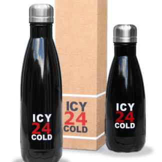 Icy 24 Cold drinkfles zwart 350ml