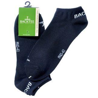 Backtee Low Cut Golf Socks 3 Pairs Black