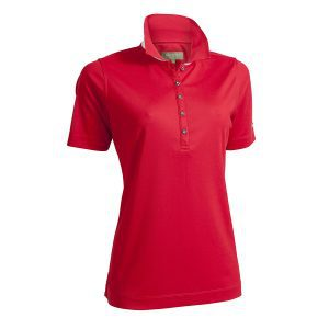 Backtee ladies performance golf polo red