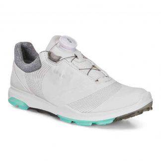 Ecco biom 3 golfschoen white/emerald