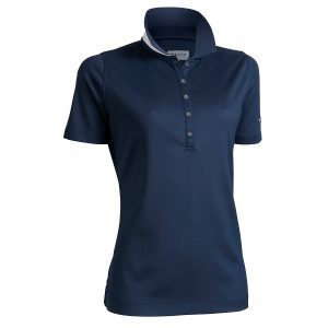 Backtee dames polo donkerblauw