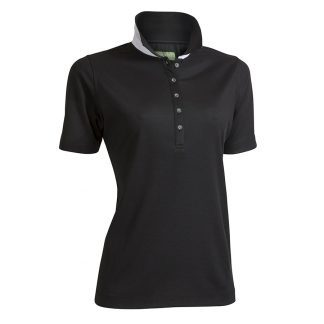 Backtee dames polo zwart