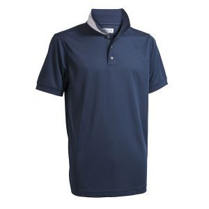 Backtee heren polo donkerblauw