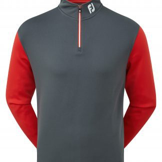 Footjoy heren chill-out pullover charcoal/rood (92445)