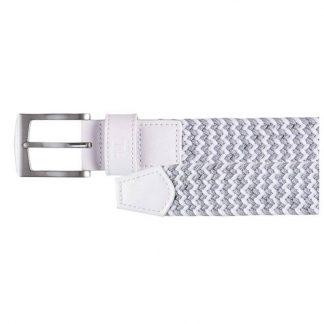 Footjoy riem elastisch grijs/wit