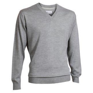Backtee Heren Solid V-Neck Pullover Grijs
