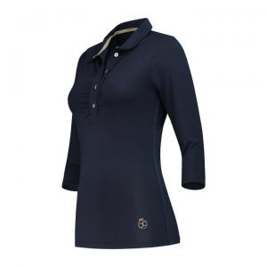 Par 69 dames golf polo met lange mouw, Bien long sleeve dark navy.