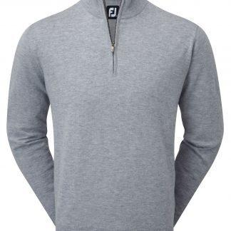 FootJoy Lambswool 1/2 Zip Pullover Light Grey