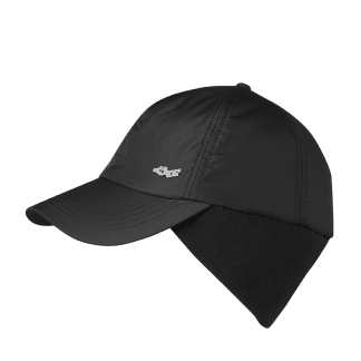 Röhnisch gevoerde winterpet (padded logo cap) black