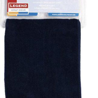 Legend golf handdoek zwart