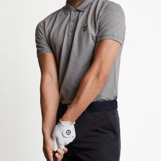 Lyle & Scott kelso golf polo grijs