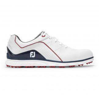 Footjoy heren golfschoen Pro/SL white, navy, red 53269