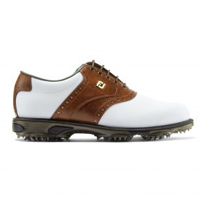 Footjoy heren golfschoen dryjoys tour white brown 53709