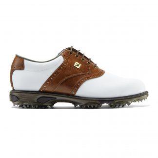 Footjoy heren golfschoen dryjoys tour white brown 53709