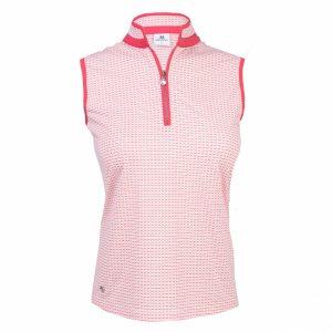 Daily sports mouwloze dames golf polo talia, watermelon