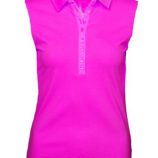 Girls golf polo pink 13500