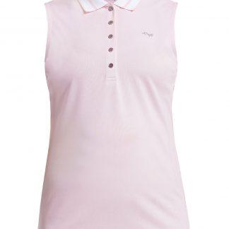 Röhnisch mouwloze golf polo pim light pink 224039