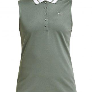 Röhnisch mouwloze golf polo pim green 224039