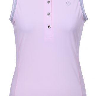 Lutha golfpolo mouwloos elisabet roze