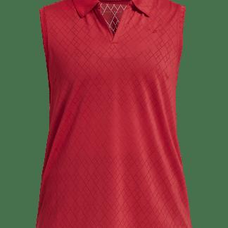 Röhnisch mouwloze golf polo red 721163