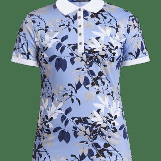 Röhnisch dames golf polo leaf, light blue 726203