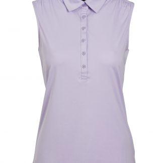 Func factory mouwloze amy golf polo, lavender