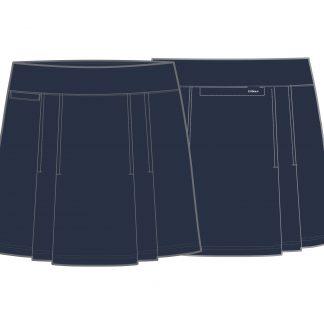 Skechers dames golf rokje, ridge blue iris