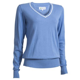 Backtee Dames Solid Stretch Pullover campanula