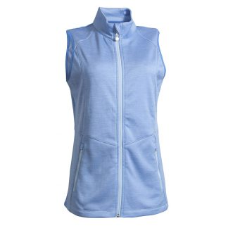 Backtee dames melange midlayer vest blue bell