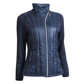 Backtee dames quilted jacket navy