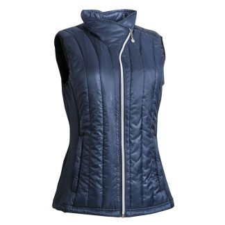 Backtee dames quilted vest navy