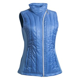 Backtee dames quilted vest campanula