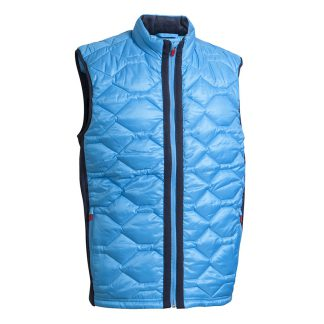 Backtee Mens Quilted Thermal Vest Malibu Blue