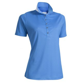 Backtee dames polo campanula