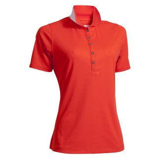 Backtee dames polo poppy red