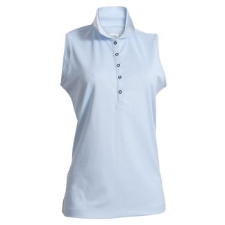 Backtee dames polo mouwloos blue bell