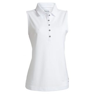 Backtee dames performance polo top white
