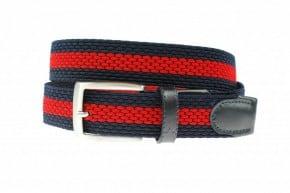 Alberto elastische riem navy en rood