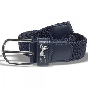 Surprizeshop navy woven golf belt