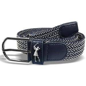 Surprizeshop navy & white woven golf belt