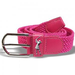 Surprizeshop pink woven golf belt
