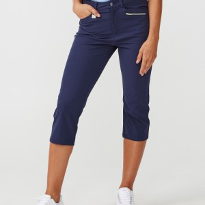 Rönisch dames stretch capri indigo night