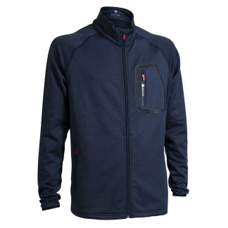 Backtee mannen melange midlayer jacket navy