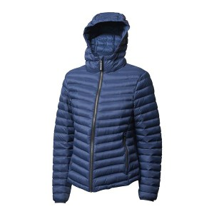 Backtee ladies light weight quilted jacket, navy