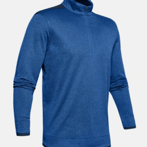 Under armour Herenshirt SweaterFleece met korte rits blauw (1345464)